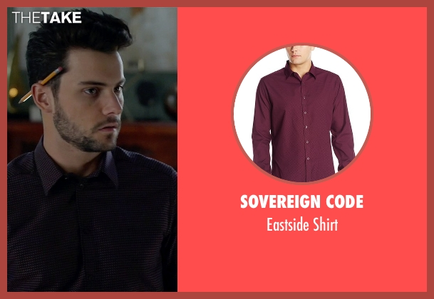 Sovereign Code purple shirt from How To Get Away With Murder seen with Jack Falahee