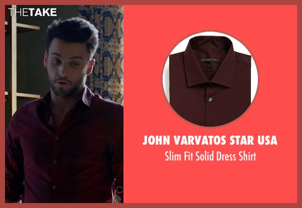 John Varvatos Star USA red shirt from How To Get Away With Murder seen with Jack Falahee