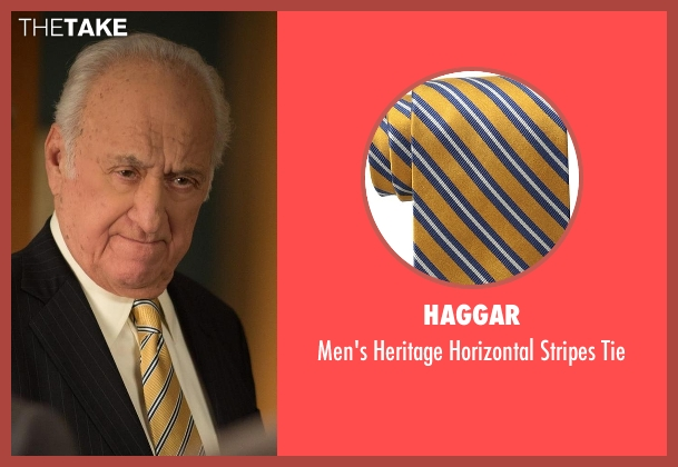 Haggar gold tie from The Good Wife seen with Howard Lyman (Jerry Adler)