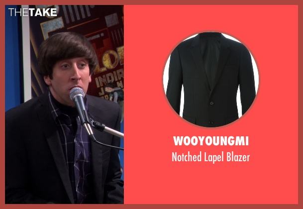 Wooyoungmi black blazer from The Big Bang Theory seen with Howard Wolowitz (Simon Helberg)