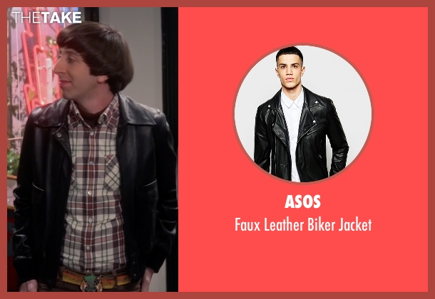 Asos black jacket from The Big Bang Theory seen with Howard Wolowitz (Simon Helberg)