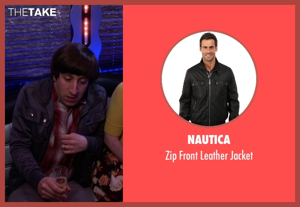 Nautica black jacket from The Big Bang Theory seen with Howard Wolowitz (Simon Helberg)