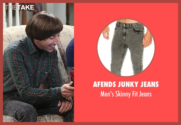 Afends Junky Jeans black jeans from The Big Bang Theory seen with Howard Wolowitz (Simon Helberg)