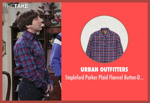 Urban Outfitters blue button-down shirt from The Big Bang Theory seen with Howard Wolowitz (Simon Helberg)