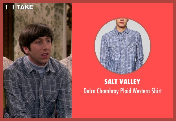Salt Valley blue shirt from The Big Bang Theory seen with Howard Wolowitz (Simon Helberg)