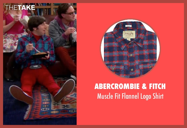 Abercrombie & Fitch blue shirt from The Big Bang Theory seen with Howard Wolowitz (Simon Helberg)