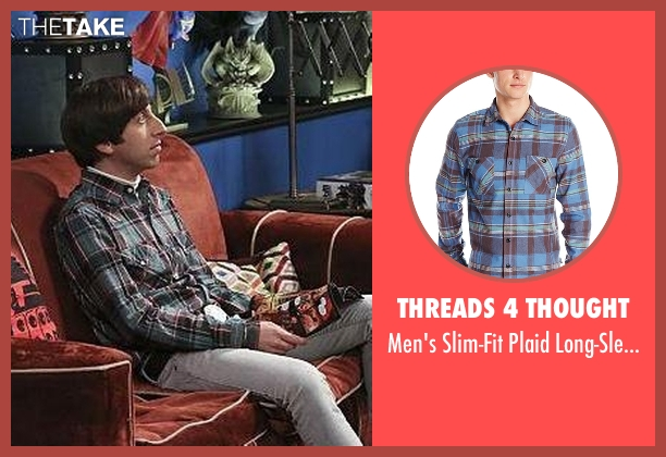 Threads 4 Thought blue shirt from The Big Bang Theory seen with Howard Wolowitz (Simon Helberg)