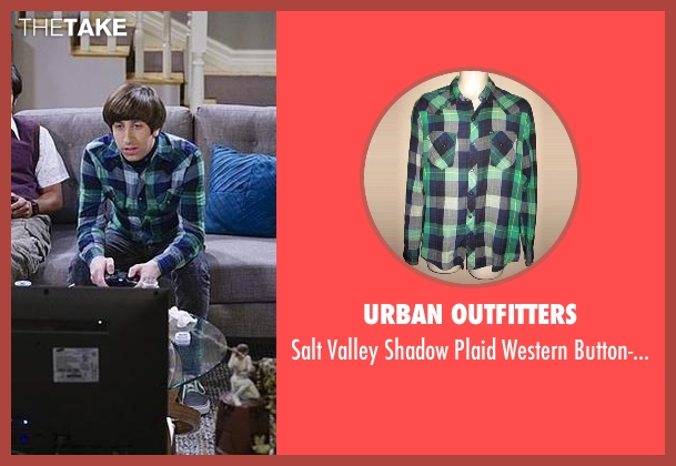 Urban Outfitters blue shirt from The Big Bang Theory seen with Howard Wolowitz (Simon Helberg)