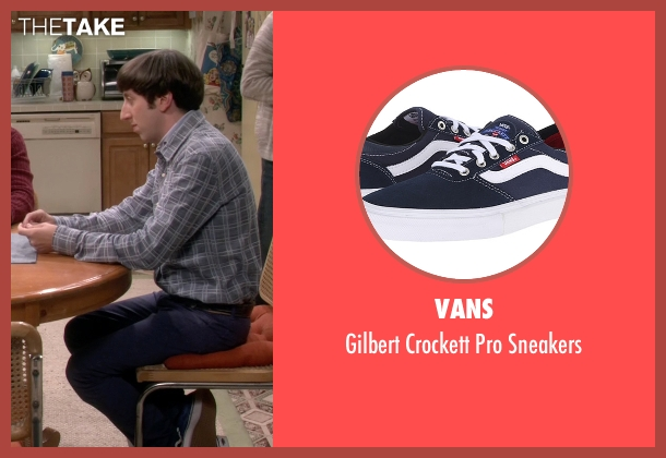 Vans blue sneakers from The Big Bang Theory seen with Howard Wolowitz (Simon Helberg)