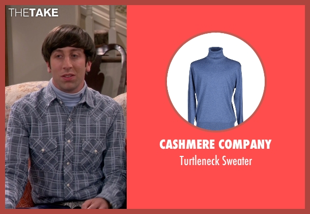 Cashmere Company blue sweater from The Big Bang Theory seen with Howard Wolowitz (Simon Helberg)