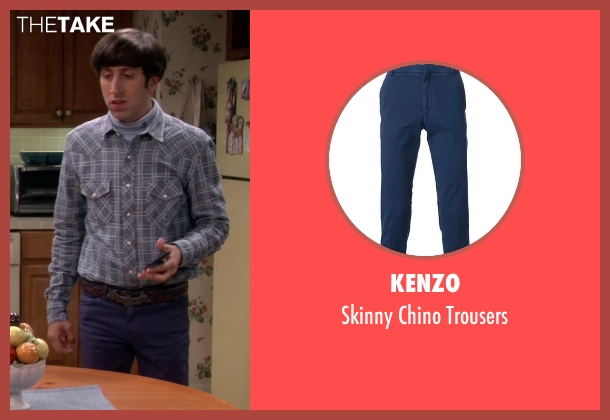 Kenzo blue trousers from The Big Bang Theory seen with Howard Wolowitz (Simon Helberg)