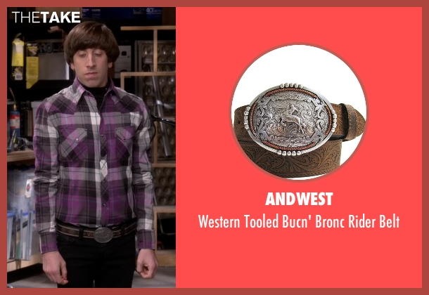 Andwest brown belt from The Big Bang Theory seen with Howard Wolowitz (Simon Helberg)