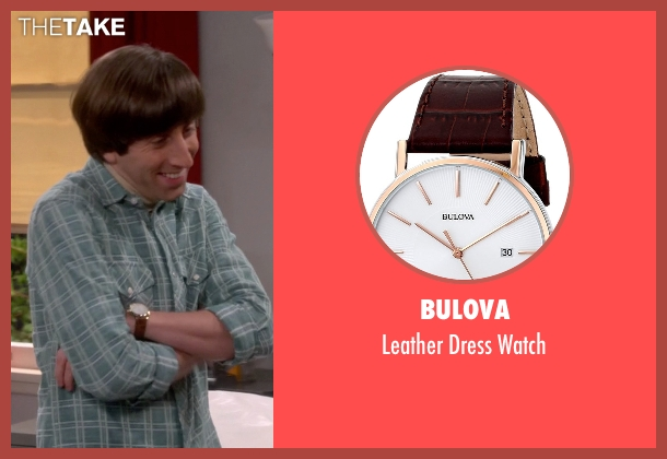 Bulova brown watch from The Big Bang Theory seen with Howard Wolowitz (Simon Helberg)