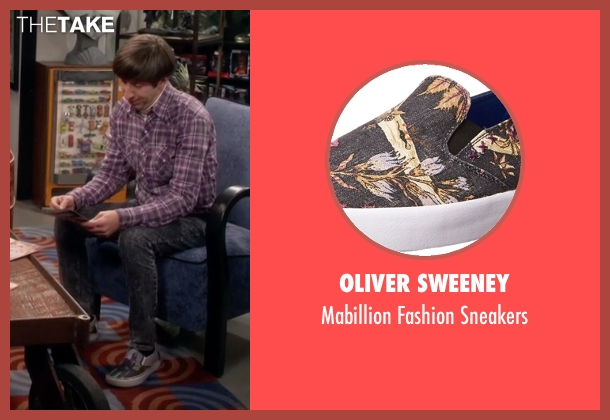 Oliver Sweeney gray sneakers from The Big Bang Theory seen with Howard Wolowitz (Simon Helberg)