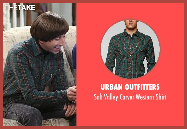 Urban Outfitters green shirt from The Big Bang Theory seen with Howard Wolowitz (Simon Helberg)