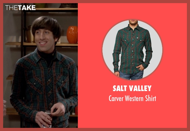 Salt Valley green shirt from The Big Bang Theory seen with Howard Wolowitz (Simon Helberg)