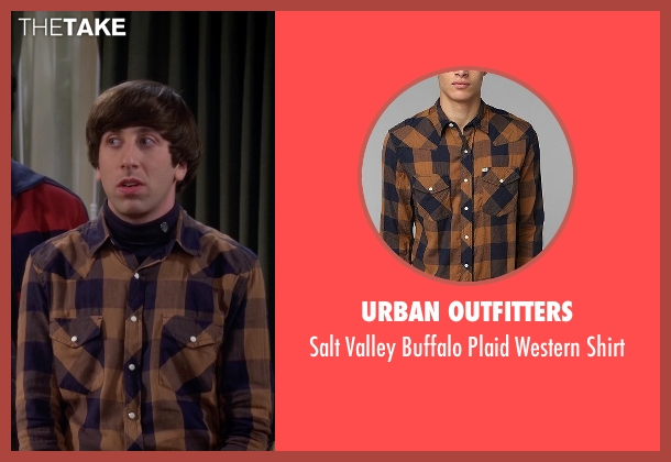 Urban Outfitters orange shirt from The Big Bang Theory seen with Howard Wolowitz (Simon Helberg)