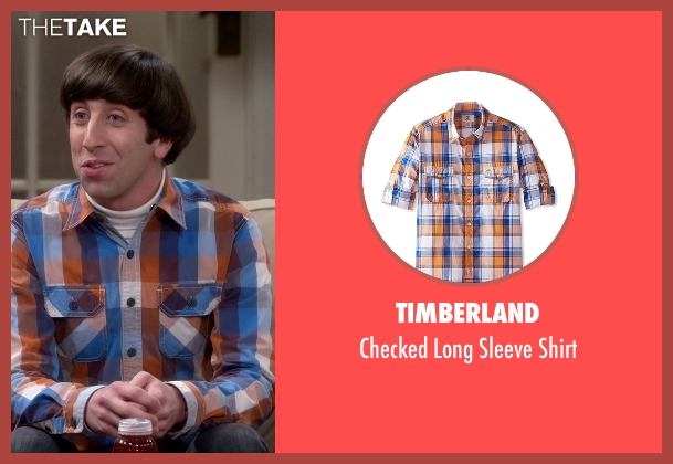 Timberland orange shirt from The Big Bang Theory seen with Howard Wolowitz (Simon Helberg)
