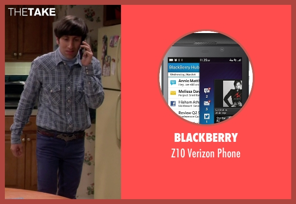 BlackBerry phone from The Big Bang Theory seen with Howard Wolowitz (Simon Helberg)
