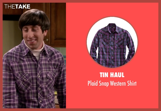 Tin Haul purple shirt from The Big Bang Theory seen with Howard Wolowitz (Simon Helberg)