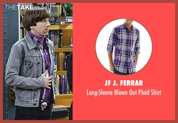 JF J. Ferrar purple shirt from The Big Bang Theory seen with Howard Wolowitz (Simon Helberg)