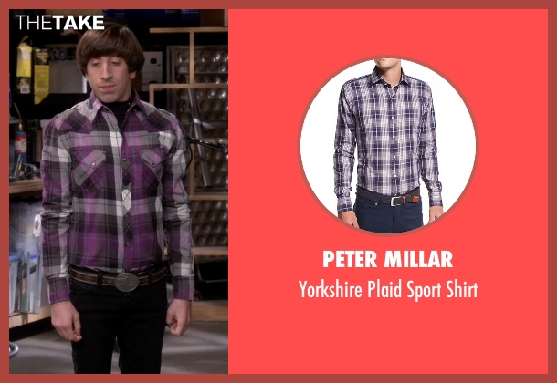 Peter Millar purple shirt from The Big Bang Theory seen with Howard Wolowitz (Simon Helberg)
