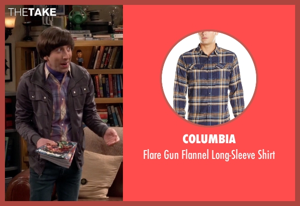 Columbia purple shirt from The Big Bang Theory seen with Howard Wolowitz (Simon Helberg)