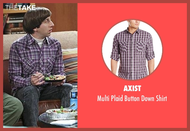 Axist purple shirt from The Big Bang Theory seen with Howard Wolowitz (Simon Helberg)