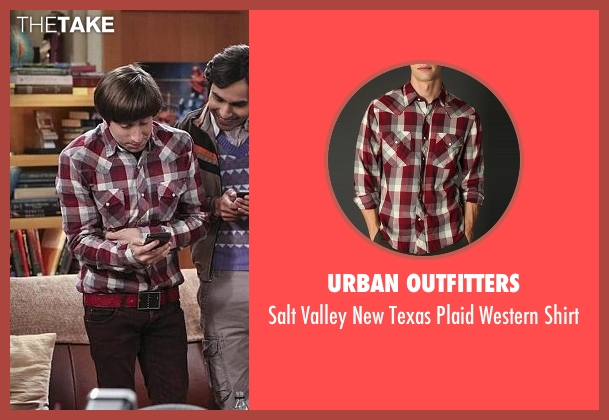 Urban Outfitters red shirt from The Big Bang Theory seen with Howard Wolowitz (Simon Helberg)