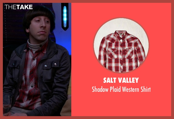 Salt Valley red shirt from The Big Bang Theory seen with Howard Wolowitz (Simon Helberg)