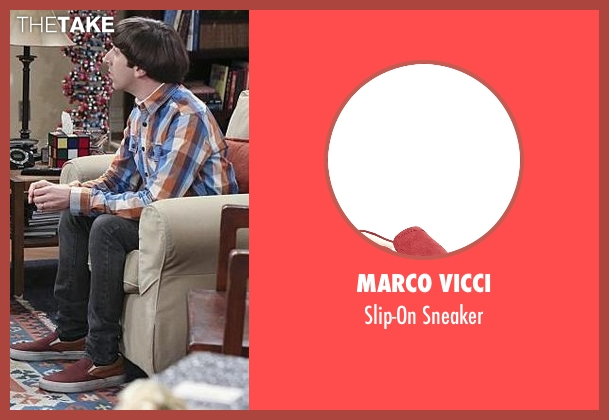 Marco Vicci red sneaker from The Big Bang Theory seen with Howard Wolowitz (Simon Helberg)