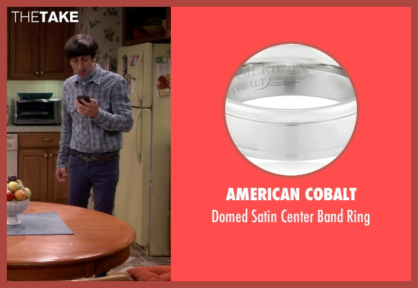 American Cobalt silver ring from The Big Bang Theory seen with Howard Wolowitz (Simon Helberg)