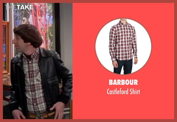 Barbour white shirt from The Big Bang Theory seen with Howard Wolowitz (Simon Helberg)