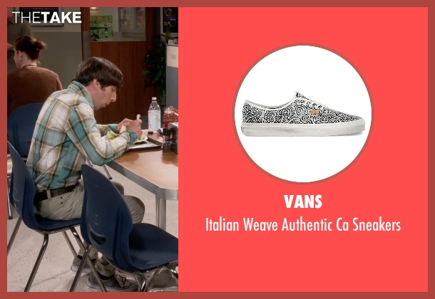 Vans white sneakers from The Big Bang Theory seen with Howard Wolowitz (Simon Helberg)