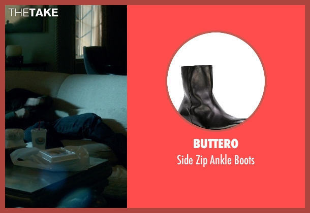 Buttero black boots from Scandal seen with Huck (Guillermo Díaz)