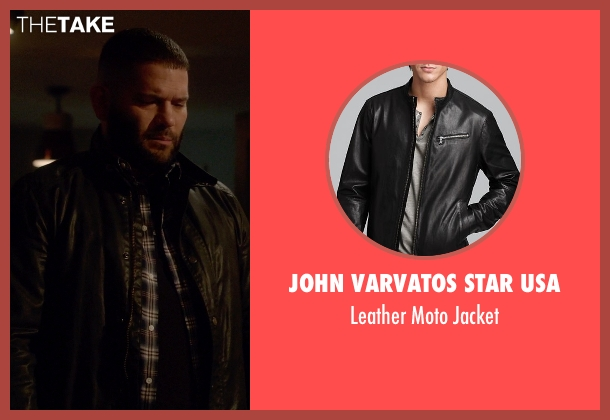 John Varvatos Star USA black jacket from Scandal seen with Huck (Guillermo Díaz)