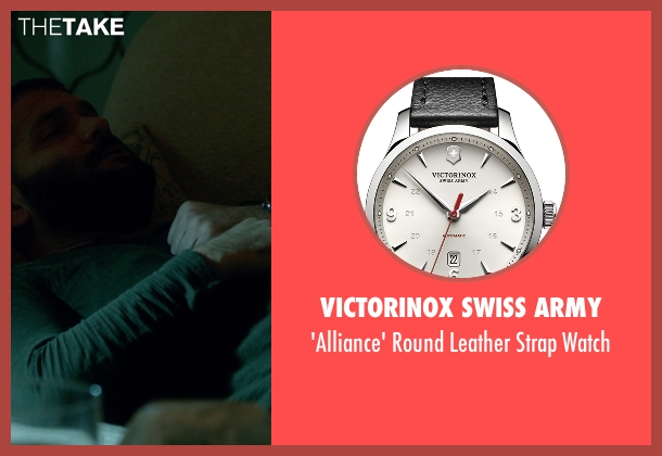 Victorinox Swiss Army black watch from Scandal seen with Huck (Guillermo Díaz)