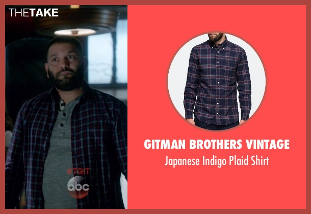Gitman Brothers Vintage blue shirt from Scandal seen with Huck (Guillermo Díaz)