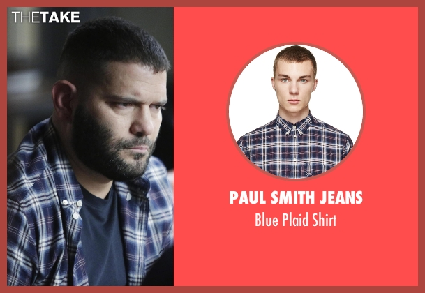 Paul Smith Jeans blue shirt from Scandal seen with Huck (Guillermo Díaz)