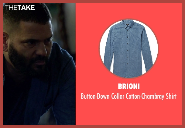 Brioni blue shirt from Scandal seen with Huck (Guillermo Díaz)