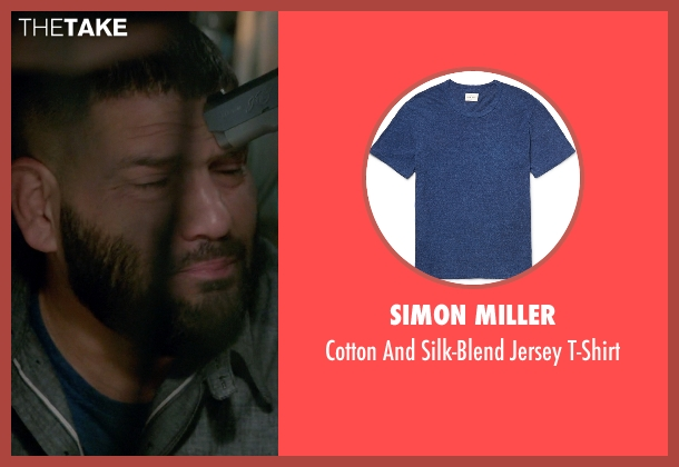 Simon Miller blue t-shirt from Scandal seen with Huck (Guillermo Díaz)