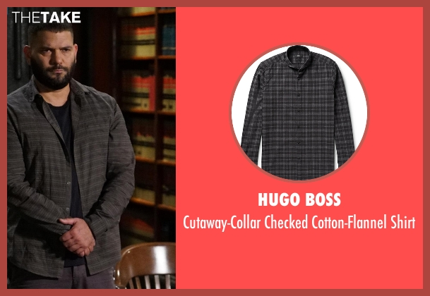 Hugo Boss gray shirt from Scandal seen with Huck (Guillermo Díaz)
