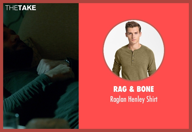 Rag & Bone green shirt from Scandal seen with Huck (Guillermo Díaz)