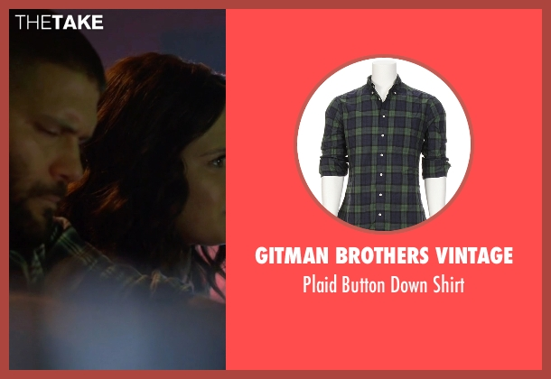 Gitman Brothers Vintage green shirt from Scandal seen with Huck (Guillermo Díaz)