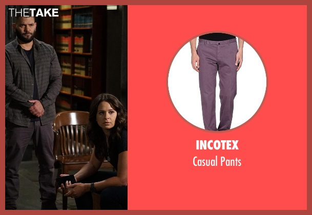 Incotex purple pants from Scandal seen with Huck (Guillermo Díaz)