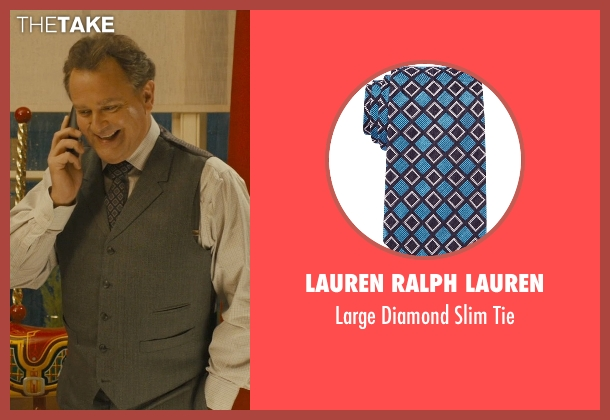 Lauren Ralph Lauren blue tie from Paddington seen with Hugh Bonneville (Mr. Brown)
