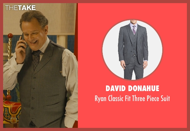 David Donahue gray suit from Paddington seen with Hugh Bonneville (Mr. Brown)