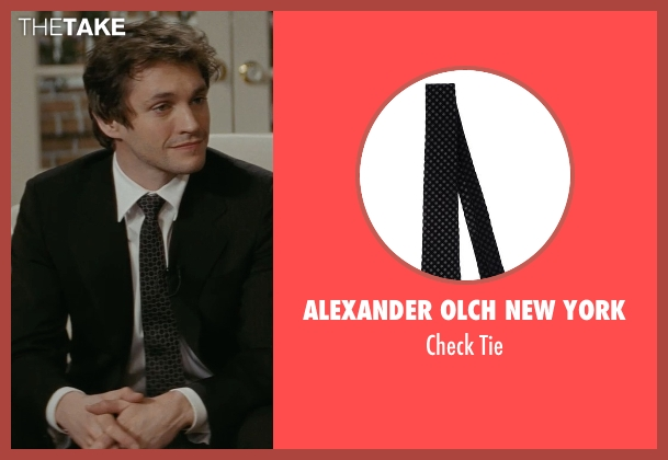 Alexander Olch New York black tie from Confessions of a Shopaholic seen with Hugh Dancy (Luke Brandon)