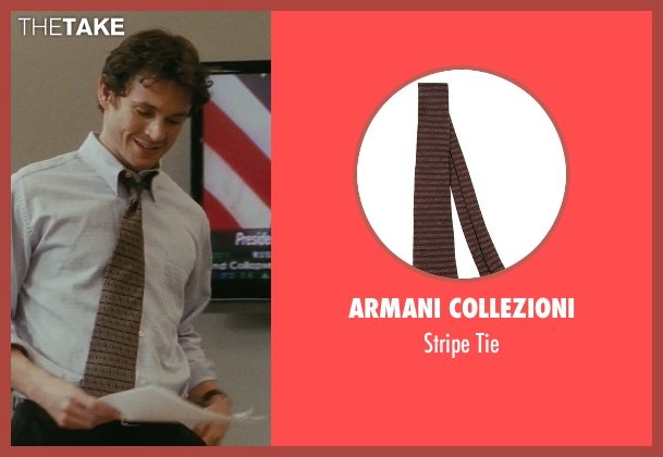 Armani Collezioni brown tie from Confessions of a Shopaholic seen with Hugh Dancy (Luke Brandon)