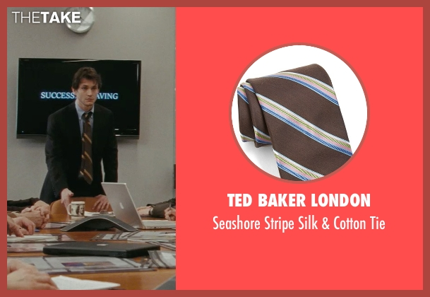 Ted Baker London brown tie from Confessions of a Shopaholic seen with Hugh Dancy (Luke Brandon)